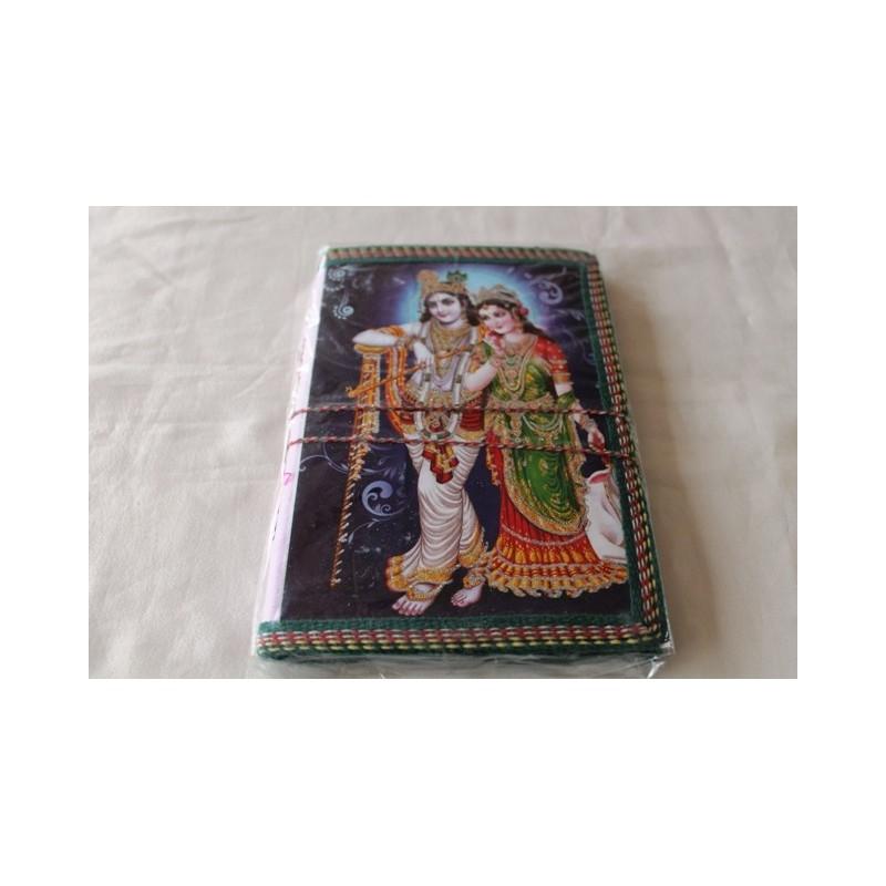 Typisches indisches Notizbuch mit Gottheit (mittel) - NOTIZ-OM052