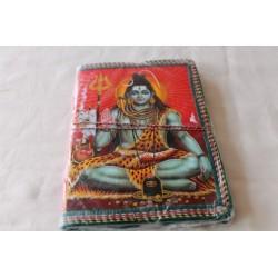 Typisches indisches Notizbuch mit Gottheit Shiva (mittel) - NOTIZ-OM053