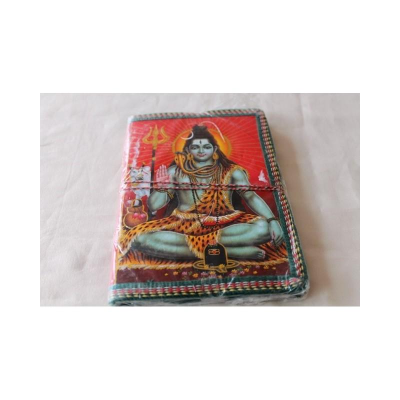 Typisches indisches Notizbuch mit Gottheit (mittel) - NOTIZ-OM053