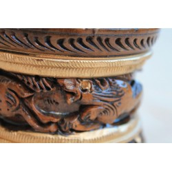 Holzdose aus Naturholz - 10 cm (GROß)