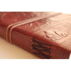 Leather diary with tree motif 23x14 cm