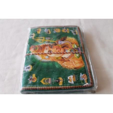Typisches indisches Notizbuch mit Gottheit (mittel) - NOTIZ-OM057