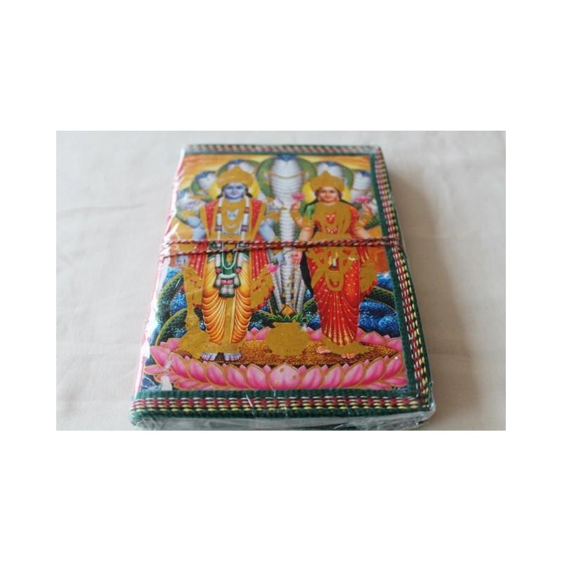 Typisches indisches Notizbuch mit Gottheit (mittel) - NOTIZ-OM060