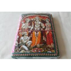 B-Ware: Typisches indisches Notizbuch mit Gottheit Rama (mittel) - NOTIZ-OM061