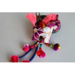 Schlüsselanhänger Taschenanhänger Pferdchen Violett - HÄNGEDECO311