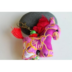 Schlüsselanhänger Taschenanhänger Pferdchen Rosa - HÄNGEDECO313