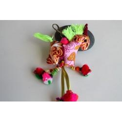 Schlüsselanhänger Taschenanhänger Pferdchen Rosa - HÄNGEDECO314