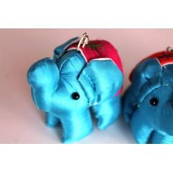 Schlüsselanhänger / Anhänger Stoffelefant Blau