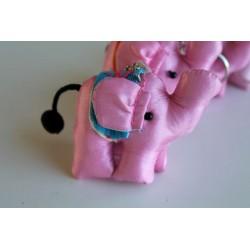 Schlüsselanhänger / Anhänger Stoffelefant Hellrosa