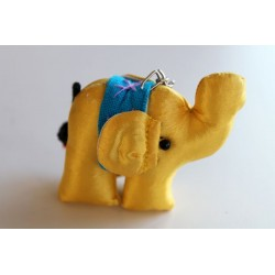 Schlüsselanhänger / Anhänger Stoffelefant Gelb