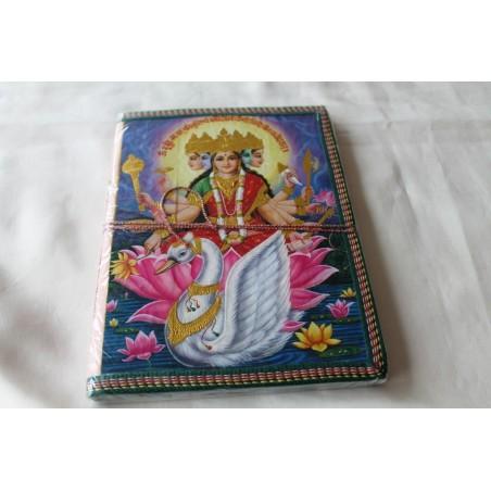 Typisches indisches Notizbuch mit Gottheit Durga (groß) - NOTIZ-OG100