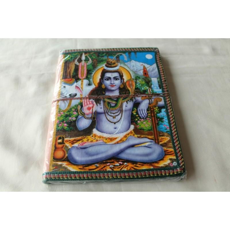 Typisches indisches Notizbuch mit Shiva (groß) - NOTIZ-OG102