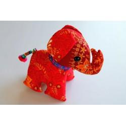 Stoffelefant in Rot 18 cm