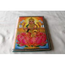 Typisches indisches Notizbuch mit Gottheit Laxmi (groß)