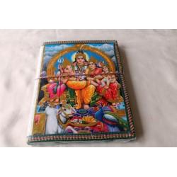 Typisches indisches Notizbuch mit Gottheit (groß) - NOTIZ-OG112