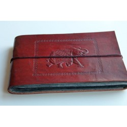 copy of Fotoalbum leather cover elephant motif 27x18 cm