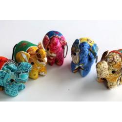 5x Schlüsselanhänger / Anhänger Stoffelefant