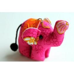 Schlüsselanhänger / Anhänger Stoffelefant Rosa