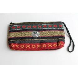 Täschchen Beutel aus Stoff mit Elefant / Hmong / Hill Tribe - BÖRSE705