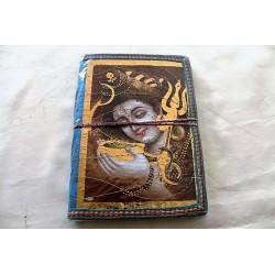 Typisches indisches Notizbuch mit Gottheit (mittel) - NOTIZ-OM059