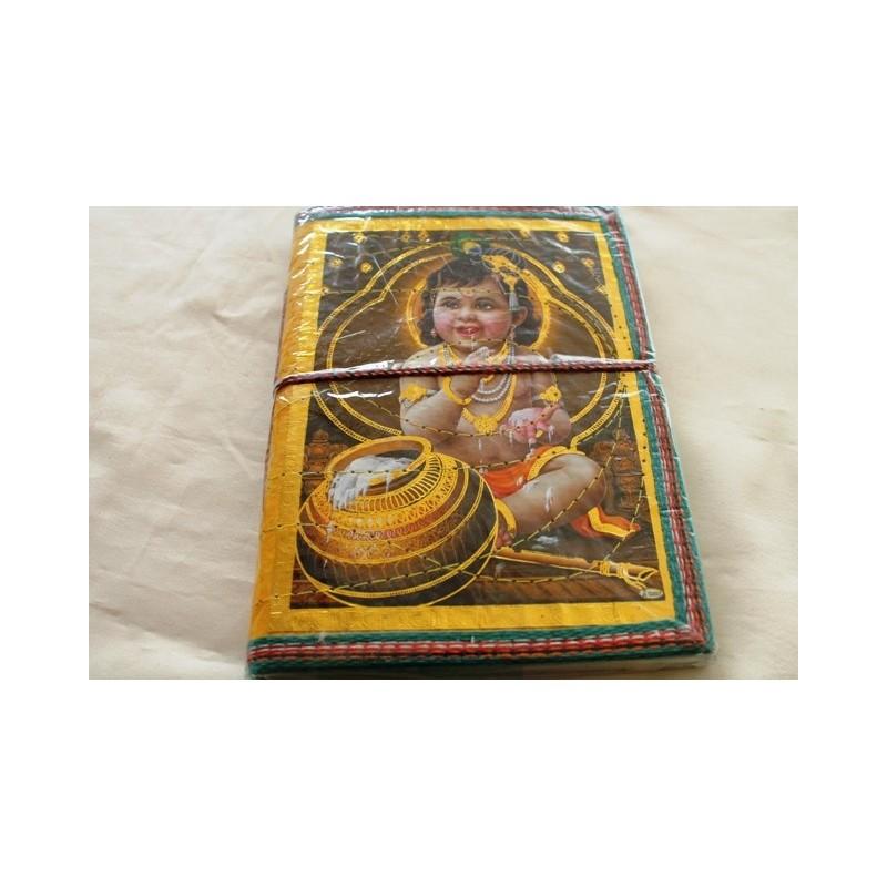 Typisches indisches Notizbuch mit Gottheit (mittel) - NOTIZ-OM071