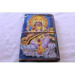 2. Wahl: Typisches indisches Notizbuch mit Gottheit Sri Sarasvati (groß) - NOTIZ-OG151