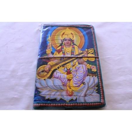 Typisches indisches Notizbuch mit Gottheit (groß) - NOTIZ-OG151