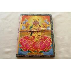 B-Ware: Typisches indisches Notizbuch mit Gottheit Laxmi (groß) - NOTIZ-OG153