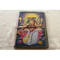 Typisches indisches Notizbuch mit Gottheit Durga (groß) - NOTIZ-OG154