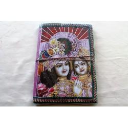 Typisches indisches Notizbuch mit Gottheit (mittel) - NOTIZ-OM075