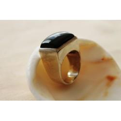 Silberring mit schwarzem Onyx