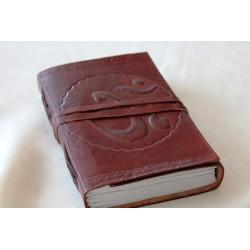 2. Wahl: Notizbuch mit OM Symbol 15x11 cm - LEDER-N002D