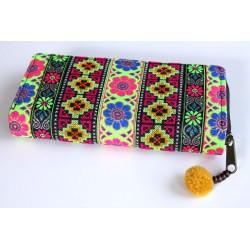 Geldbörse Brieftasche Boho mit Hmong Stoff - BÖRSE600