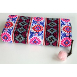 Geldbörse Brieftasche Boho mit Hmong Stoff - BÖRSE601