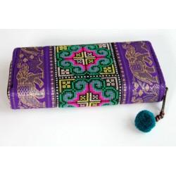 Geldbörse Brieftasche Boho mit Hmong Stoff - BÖRSE602
