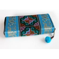 Geldbörse Brieftasche Boho mit Hmong Stoff Elefant - BÖRSE604