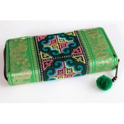 Geldbörse Brieftasche Boho mit Hmong Stoff - BÖRSE606