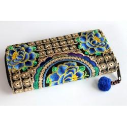 Geldbörse Brieftasche Boho mit Hmong Stoff - BÖRSE609