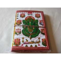 2. Wahl: Typisches indisches Notizbuch mit Gottheit (mittel)
