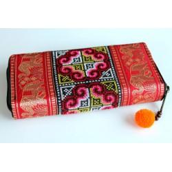 Geldbörse Brieftasche Boho mit Hmong Stoff - BÖRSE612