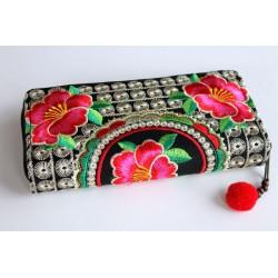 Geldbörse Brieftasche Boho mit Hmong Stoff - BÖRSE613