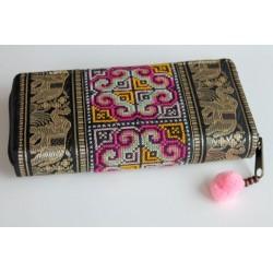 Geldbörse Brieftasche Boho mit Hmong Stoff - BÖRSE617