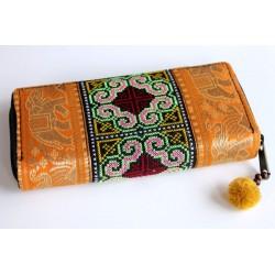 Geldbörse Brieftasche Boho mit Hmong Stoff - BÖRSE618