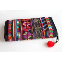 Geldbörse Brieftasche Boho mit Hmong Stoff - BÖRSE619