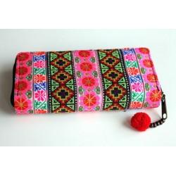 Geldbörse Brieftasche Boho mit Hmong Stoff - BÖRSE620