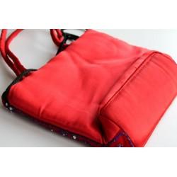 Typische indische Tasche Handtasche, einfach, in Rot