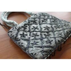 Typische indische Tasche Handtasche, einfach, Hauch von Türkis