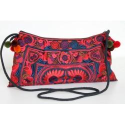 Kleine Handtasche Schultertasche Hmong Boho Stil Stickerei - TASCHE200