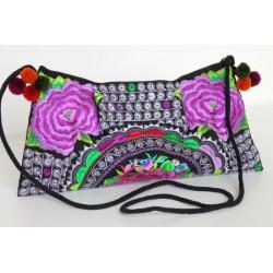 Kleine Handtasche Schultertasche Hmong Boho Stil Stickerei - TASCHE201