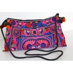 Kleine Handtasche Schultertasche Hmong Boho Stil Stickerei - TASCHE203